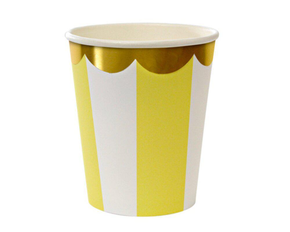 Striped Cups - Yellow