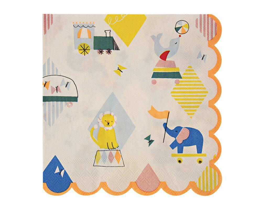 Silly Circus Party Napkins