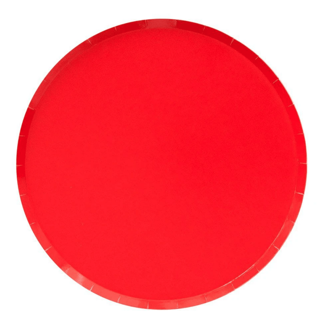 Red Basic Plates