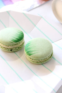 Frenchie Striped Plates - Mint