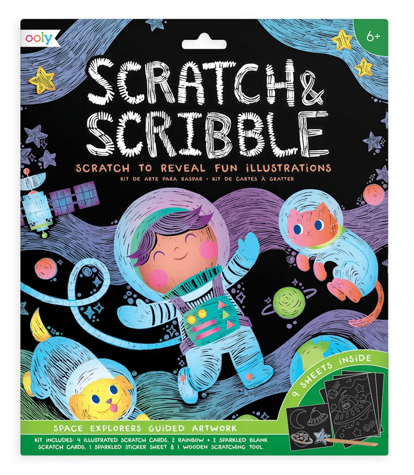 Scratch and Scribble Space Explorer Art Kit