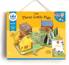 Load image into Gallery viewer, The Three Little Pigs Book & Play Set