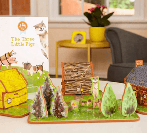 The Three Little Pigs Book & Play Set