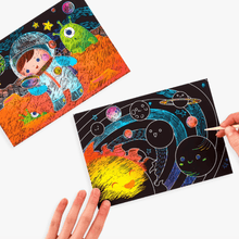 Load image into Gallery viewer, Scratch and Scribble Space Explorer Art Kit