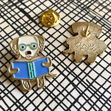 Load image into Gallery viewer, Reading Retriever Enamel Pin