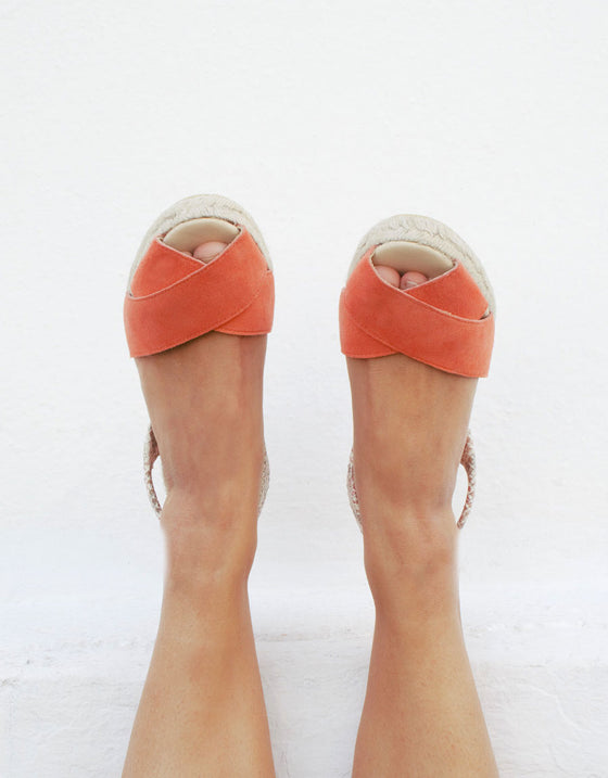 Ria Coral Wedge Shoes