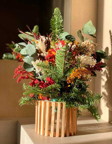 """Christmas"" Preserved Flowers Centerpìece"