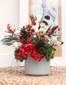 """Christmas"" Preserved Flower Centerpiece"