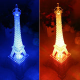 Mini 7 Color Changing Eiffel Tower LED Night Light Lamp Romatic Bedroom Decor