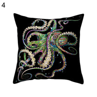 18inch Square Shape Cushion Cover Fashion Octopus Sofa Bed Throw Pillow Case