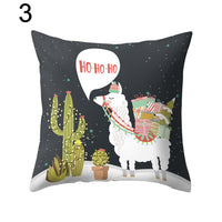 Cute Alpaca Cactus Pillow Case Cushion Cover Sofa Bed Car Cafe Office Decoration