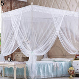 Romantic Princess Lace Canopy Mosquito Net No Frame for Twin Full Queen King Bed