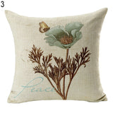 Vintage Flower Style Pillow Case Bed Sofa Square Throw Cushion Cover Home Decor