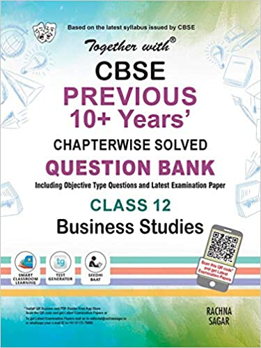 Together with CBSE Business Studies Previous 10+ Years Question Bank for Class 12