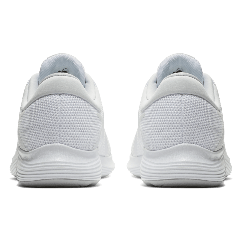 Nike Revolution 4 White School Shoes with Laces