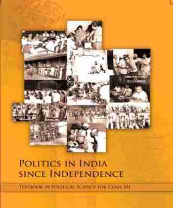 NCERT Politics in India since Independence for Class 12