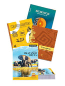NCERT Complete Books Set for Class 8 with Single line notebook, soft cover, 172 pages A4 Size (Pack of 6 notebooks) (English Medium) - Latest edition as per NCERT/CBSE