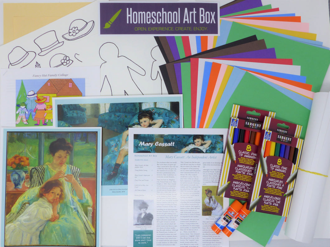 Monthly Subscription Art Box for 4 Students - monthly price includes shipping