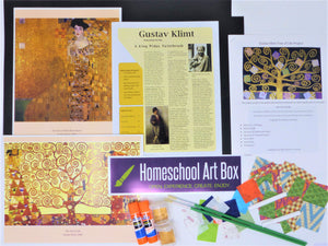 Gustav Klimt Art Box for 2 Students - Includes Shipping