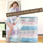 No Pump Practical Vacuum Transparent Storage Bags
