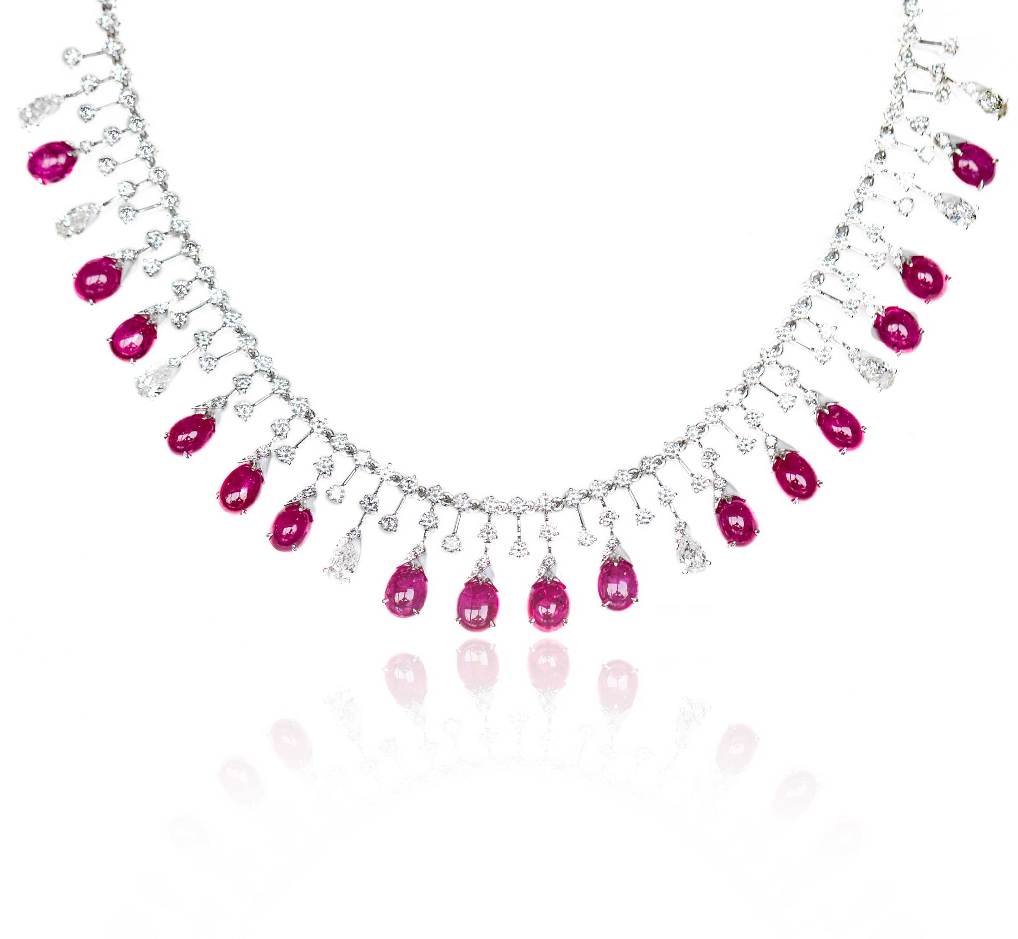 Kamyen Ruby and Diamond Necklace
