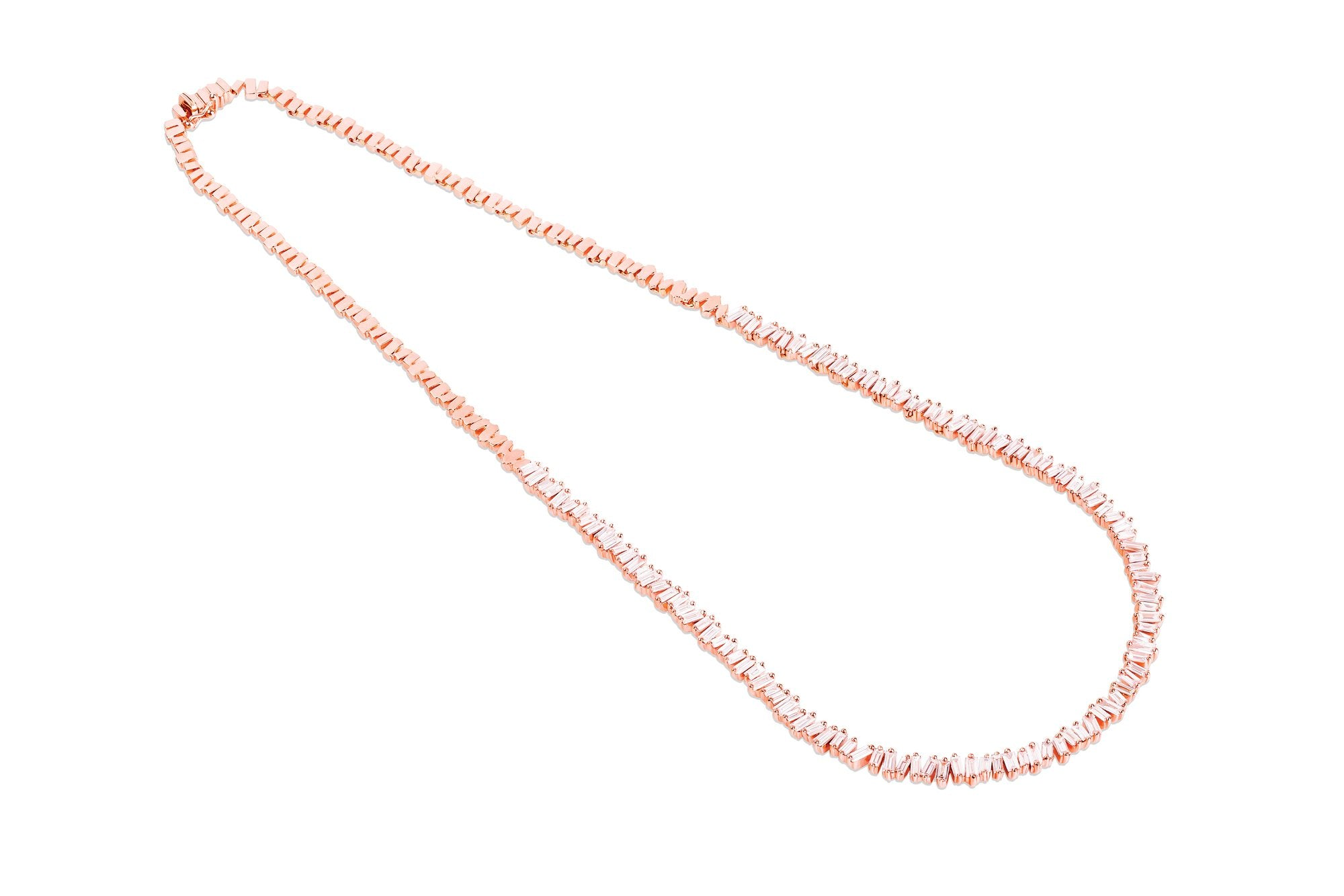 Baguette Tennis Necklace