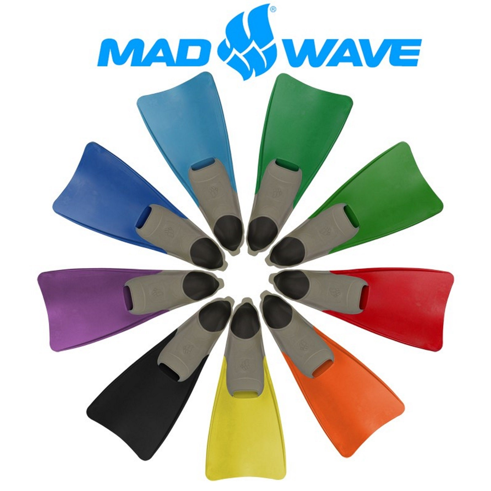 סנפיר לשחייה Mad Wave Fins Pool Colour Long