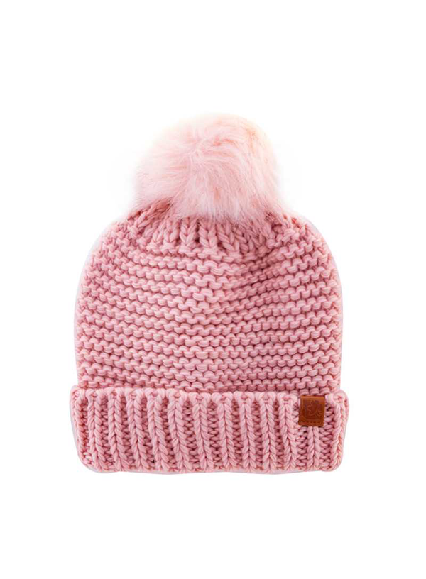 SOFT WARM FUZZY WITH POM POM BEANIE