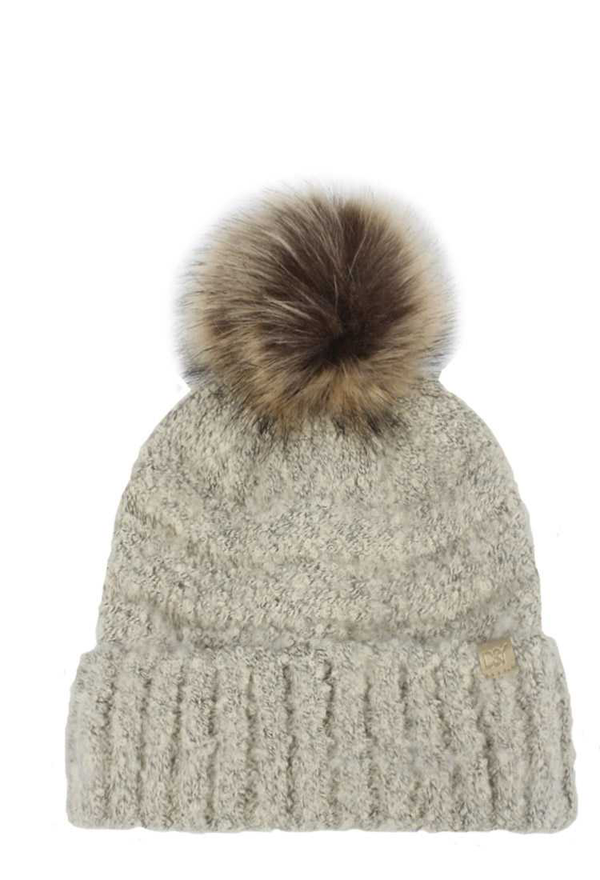 SMOOTH SOFT DESIGN WITH POM POM BEANIE