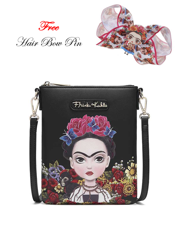 FRIDA KAHLO AUTHENTIC CARTOON SERIES FLORAL SIMPLE CROSSBODY BAG