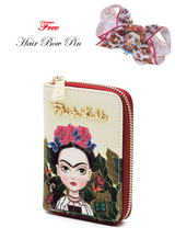 FRIDA KAHLO GENUINE ZIP AROUND BI FOLD WALLET