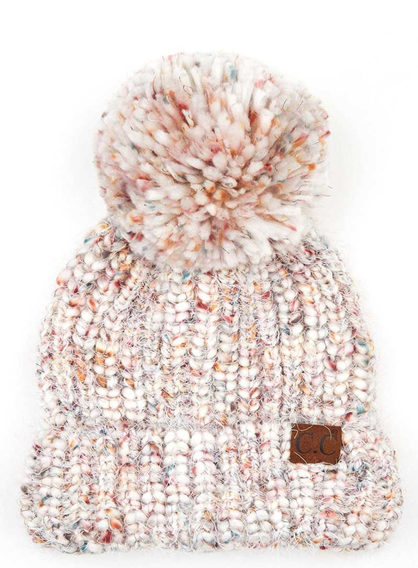 CC SOFT YARN POM KNITTED BEANIE