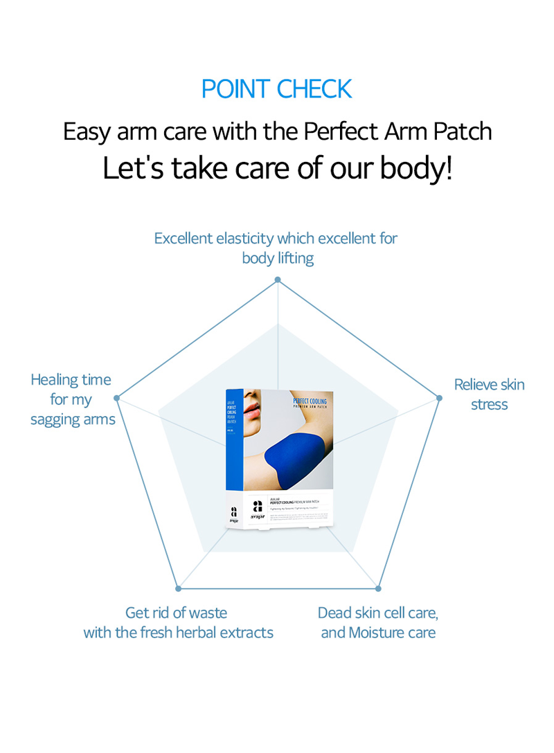 avajar - Perfect Cooling Premium Arm Patch Set 1Pack