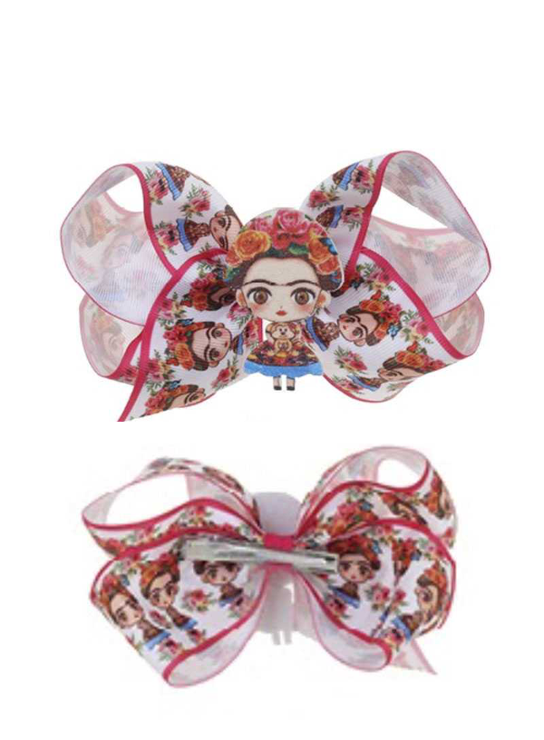 FASHION FRIDA KAHLO RIBBON HAIR BOW PIN