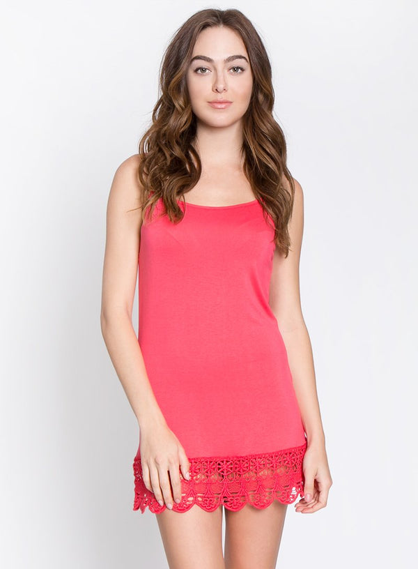 MONORENO Cami with Crochet Hemline