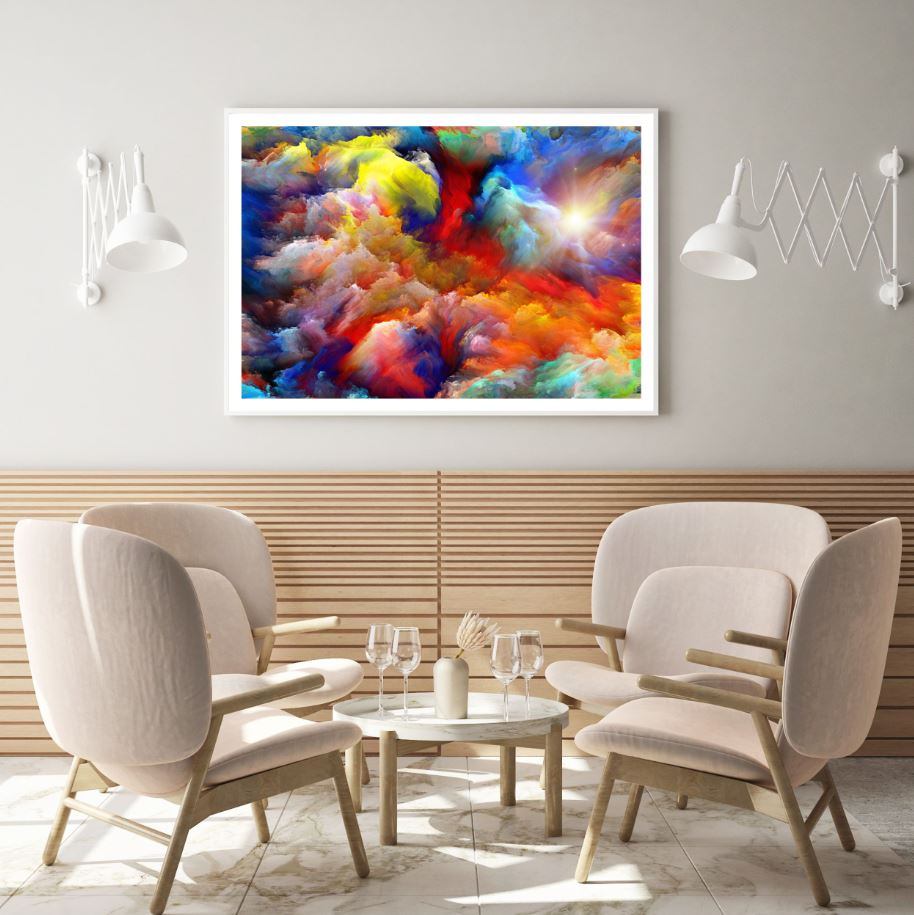 Colorful Abstract Cloud Design Home Decor Premium Quality Poster Print  Choose Your Sizes