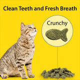 Emerald Pet Dental Crunchy Natural Grain Free Cat Treats, Made in USA 3oz