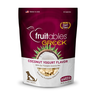 Fruitables Greek Yogurt Coconut Crunchy Dog Treats 5oz