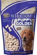Wolesome Grain Free Golden Puppy Biscuits 2lb