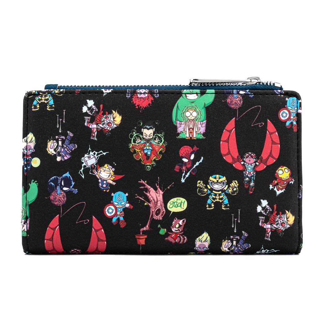 Marvel | Avengers Chibi Group Zip Around Wallet