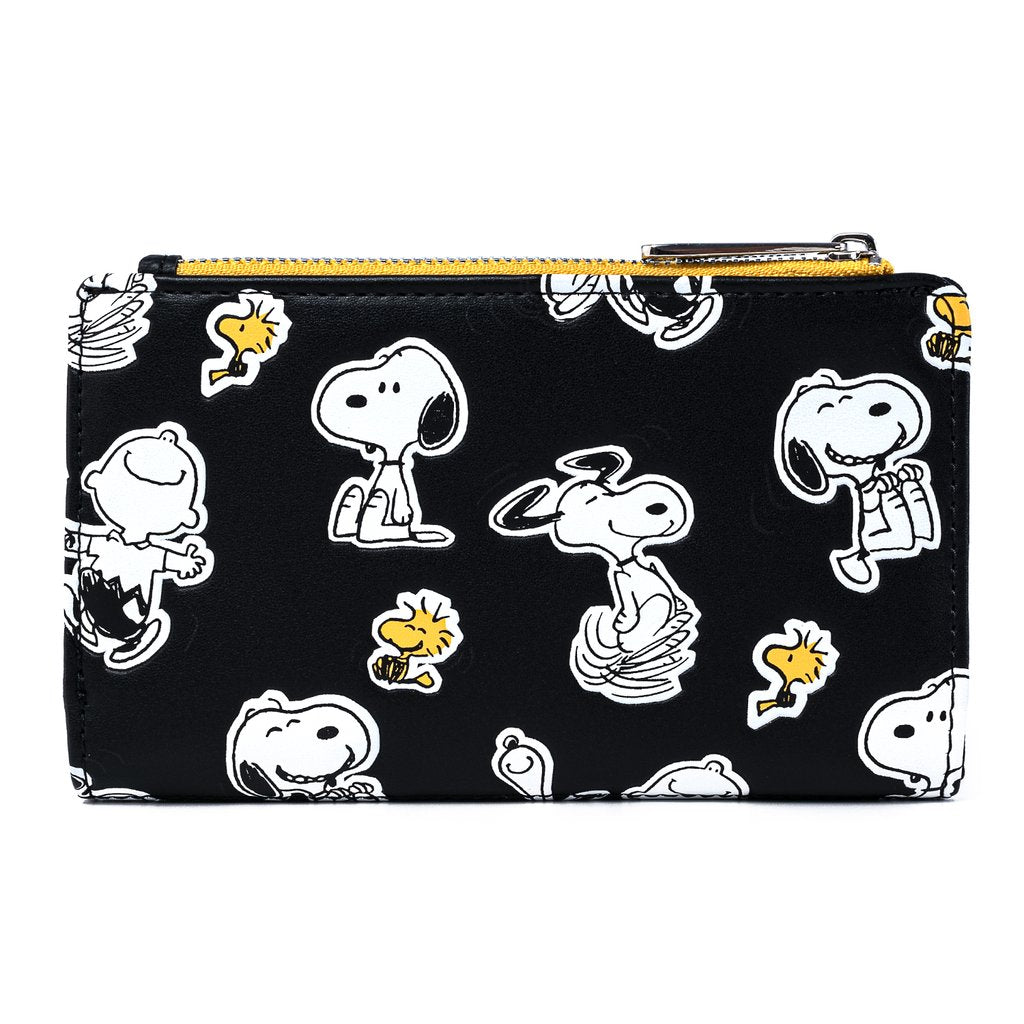 Peanuts | Snoopy and Woodstock Button Flap Wallet