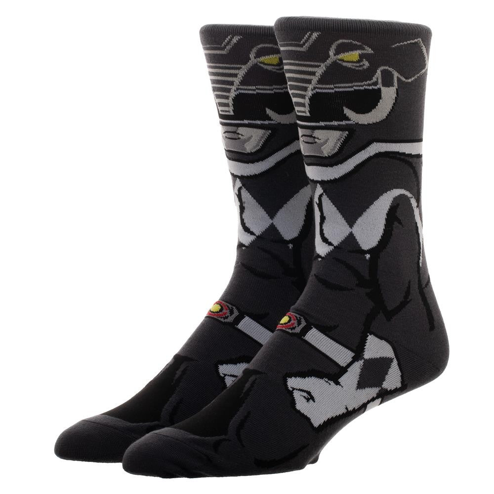 Power Rangers | Black Ranger 360 Character Crew Socks
