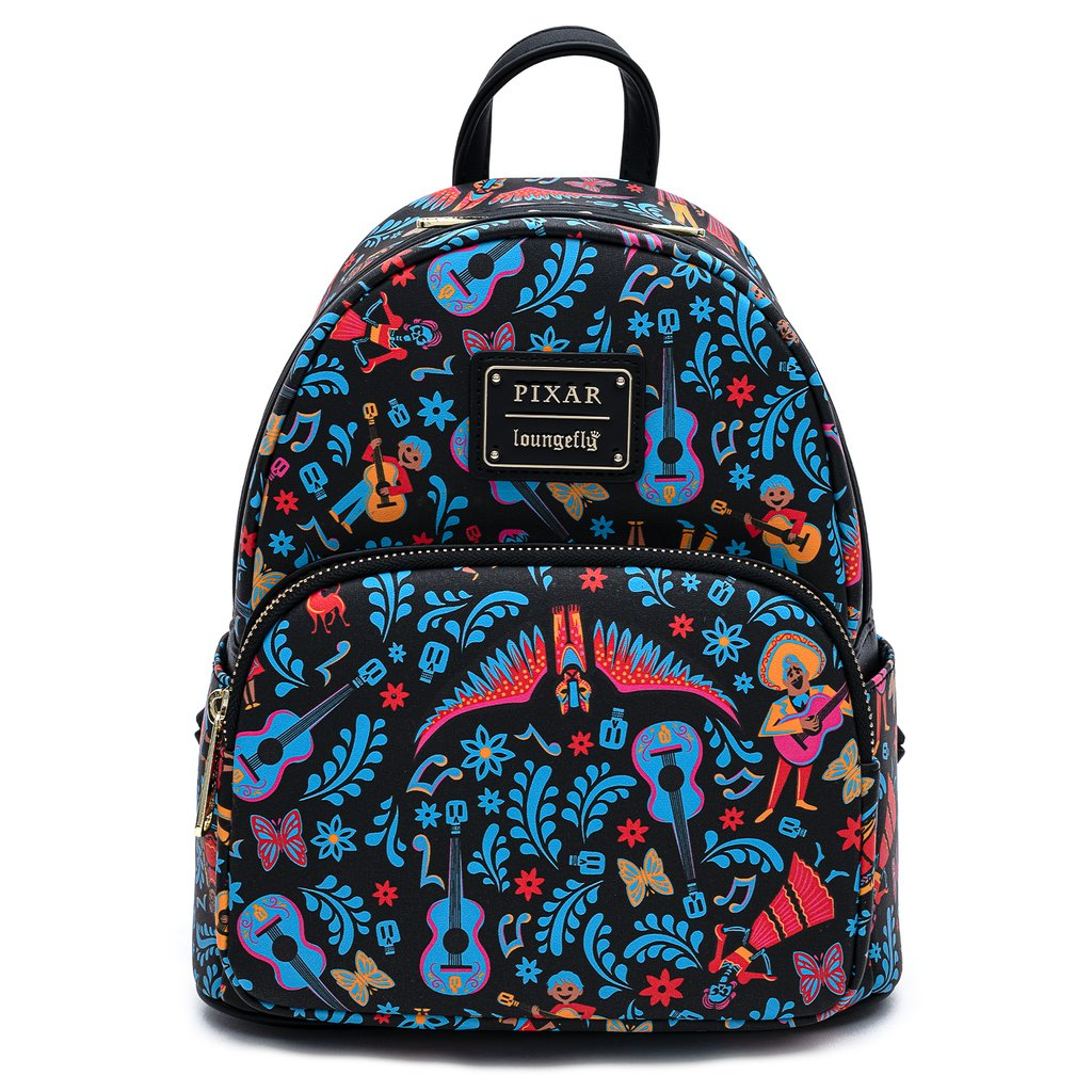 Disney | Coco Dia De Los Muertos All Over Print Mini Backpack