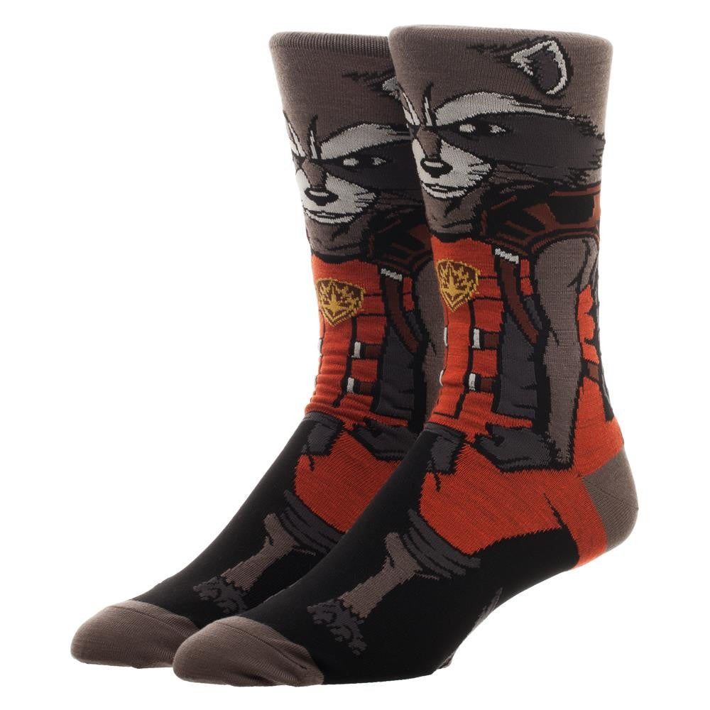 Marvel | Guardians of The Galaxy Rocket Raccoon 360 Character Crew Socks