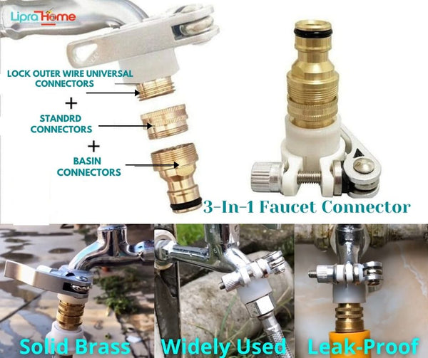 3-in-1 Faucet adapter Set - Liprahome