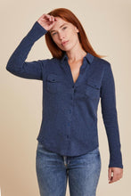 Load image into Gallery viewer, COTTON CASHMERE L/S BUTTON DOWN SHIRT - MAJESTIC FILATURES