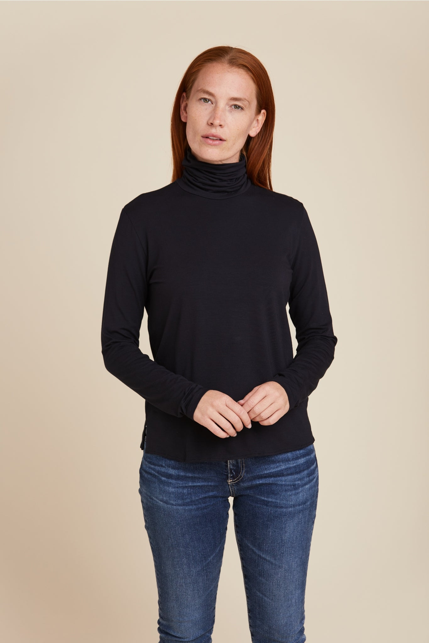 SOFT TOUCH SEMI RELAXED L/S TURTLENECK - MAJESTIC FILATURES
