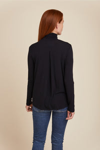 SOFT TOUCH L/S TURTLENECK WITH BACK PLEAT - MAJESTIC FILATURES