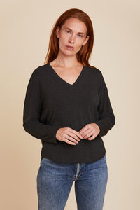 SOFT TOUCH L/S SEMI RELAXED V-NECK - MAJESTIC FILATURES