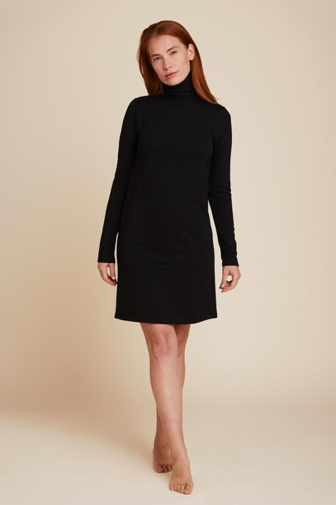 FRENCH TERRY TURTLENECK DRESS - MAJESTIC FILATURES